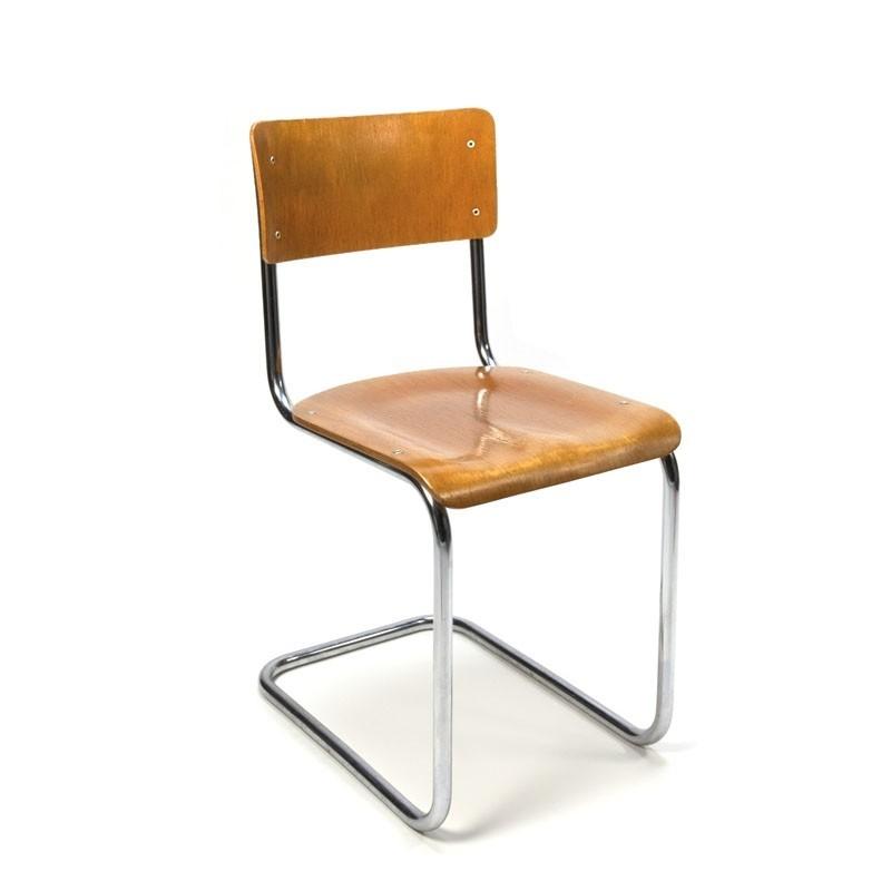 Vintage Gispen buisframe stoel