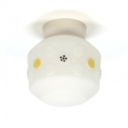 Vintage vijftiger jaren glazen plafondlamp