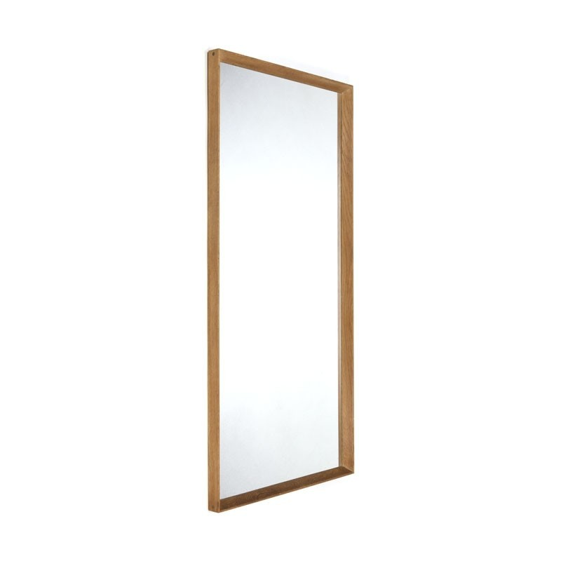 Groot model Deense Vintage eiken spiegel