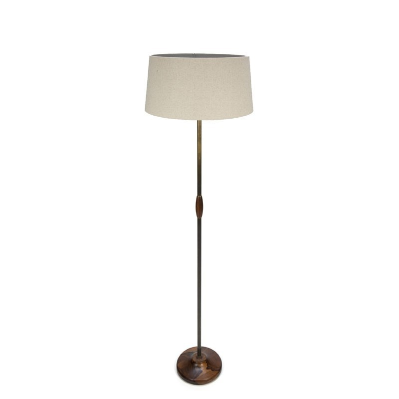 Vintage floor lamp with rosewod base