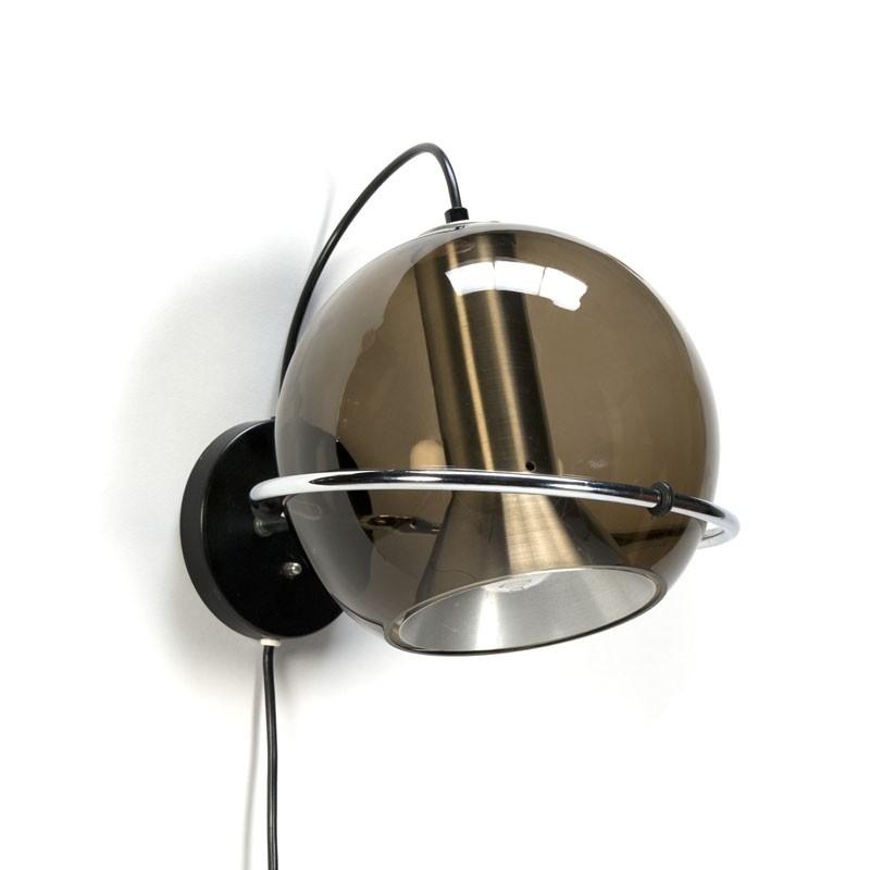 Vintage Raak Globe wandlamp ontwerp F. Ligtelijn