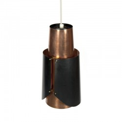 Vintage Scandinavian hanging lamp in brass