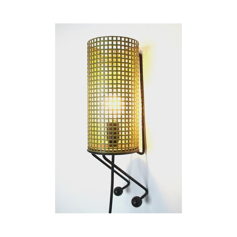 Metal wall lamp yellow