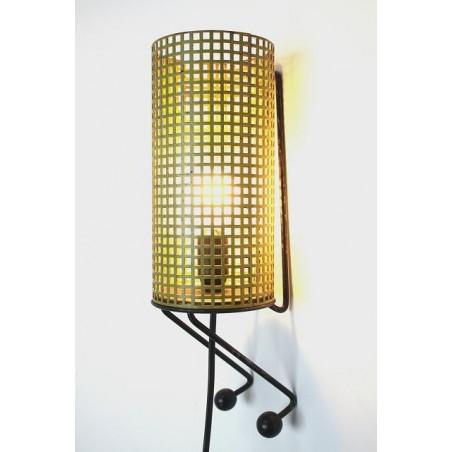 Metalen wandlamp geel