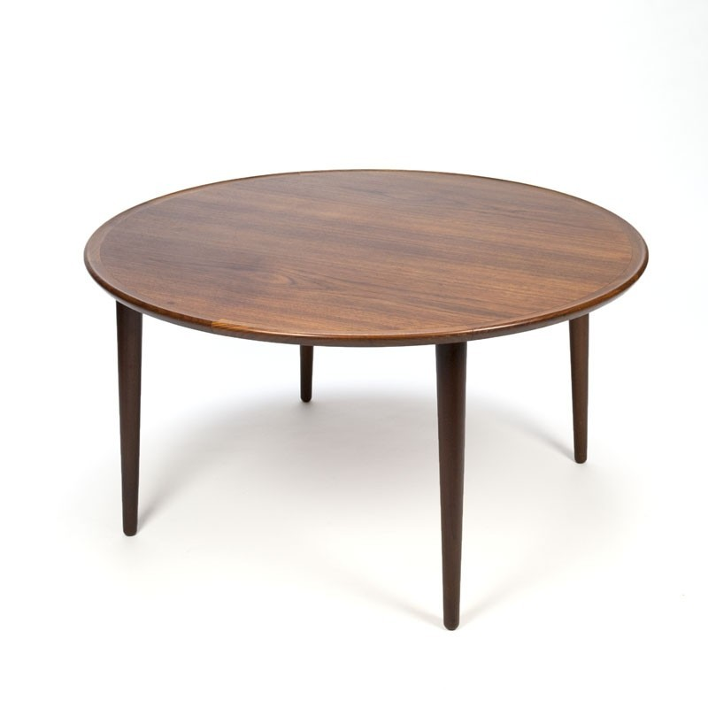 Vintage round Danish teak coffee table - Retro Studio
