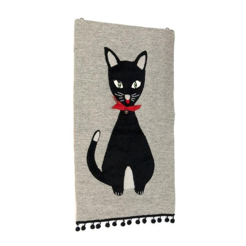 Vintage wandkleedje met kat