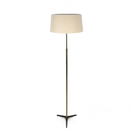 Vintage floor lamp with cast iron base