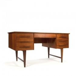 Large vintage Danish desk in teak