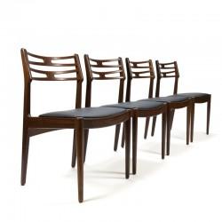 Vintage set van 4 stoelen design Johannes Andersen