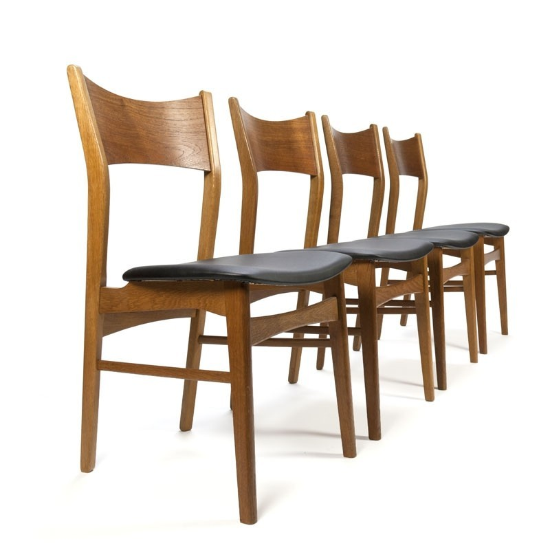 Danish vintage set of four dining chairs