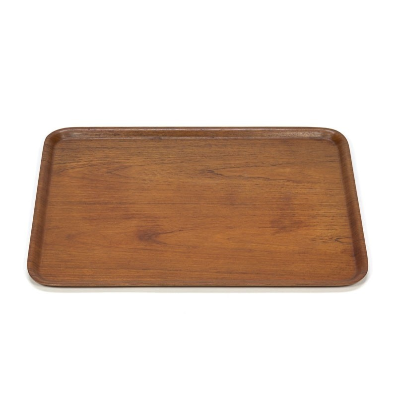 Large model vintage tray in teak