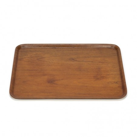 Large model vintage tray in teak