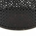 Vintage perforated metal wastepaper basket