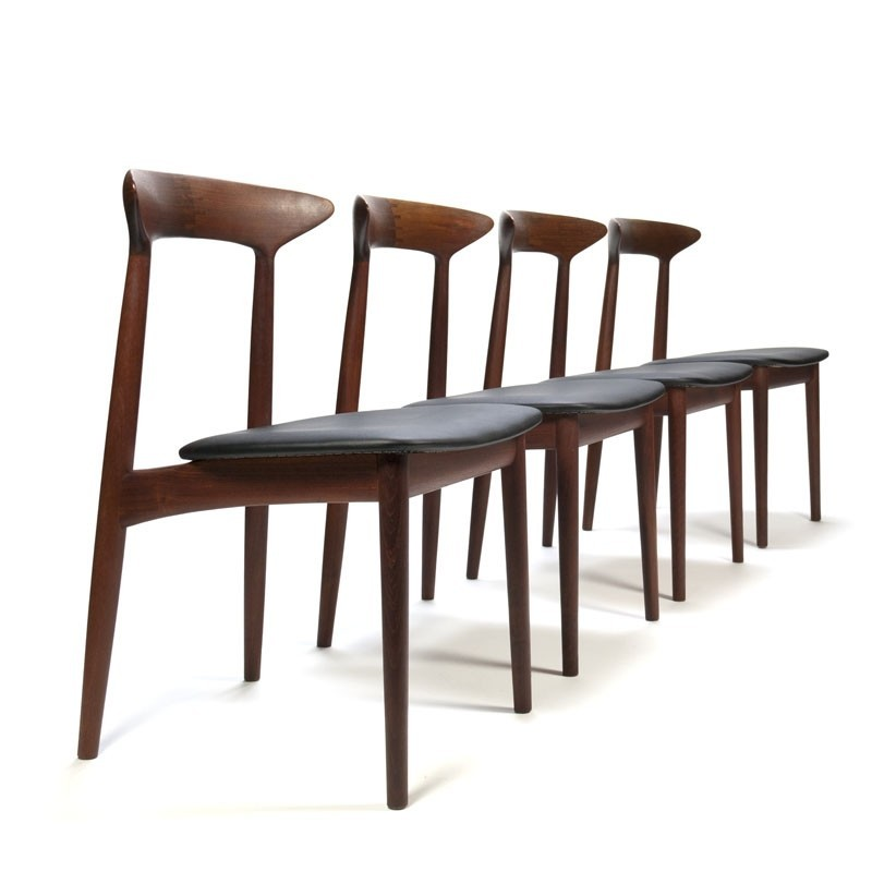 Luxury Vintage Danish Set of 4 dining table chairs