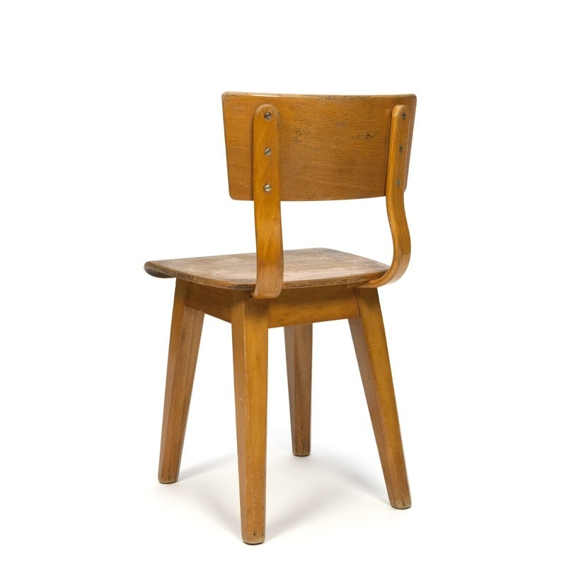Awesome Small Model Vintage Wooden School Chair Retro Studio Machost Co Dining Chair Design Ideas Machostcouk