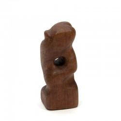 Vintage sculpture in teak