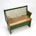 Vintage groen bankje voor kinderen