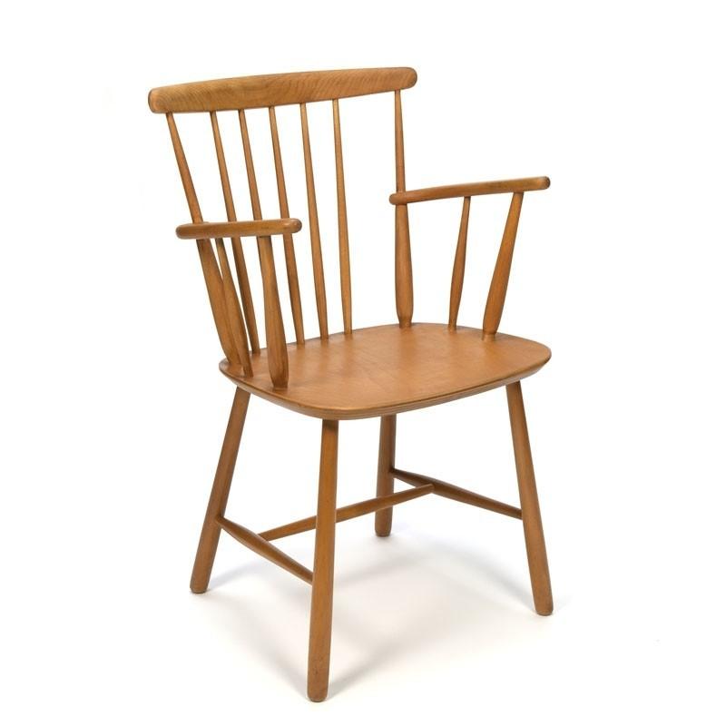 Vintage Danish oak bars chair