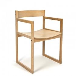 Vintage Deense berken stoel