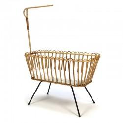 Vintage bamboe wieg van Rohe Noordwolde