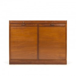 Danish double filing cabinet in teak