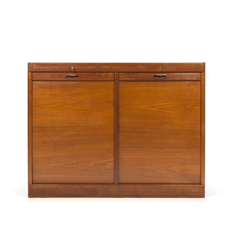 Danish double filing cabinet in teak