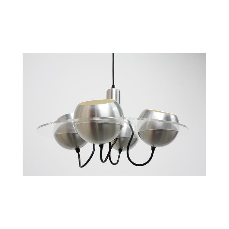Plexiglass lamp with 4 balls