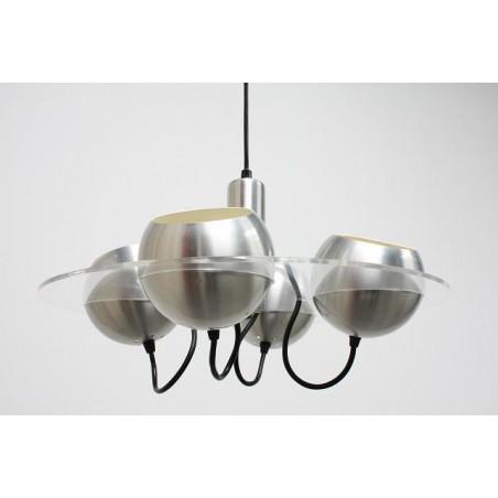 Plexiglazen hanglamp met 4 bollen