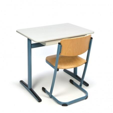 Vintage schooltafel en stoel voor kinderen