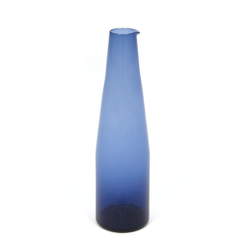 Vintage blue glass vase or jug