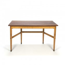 Vintage Danish school table/ desk with teak top