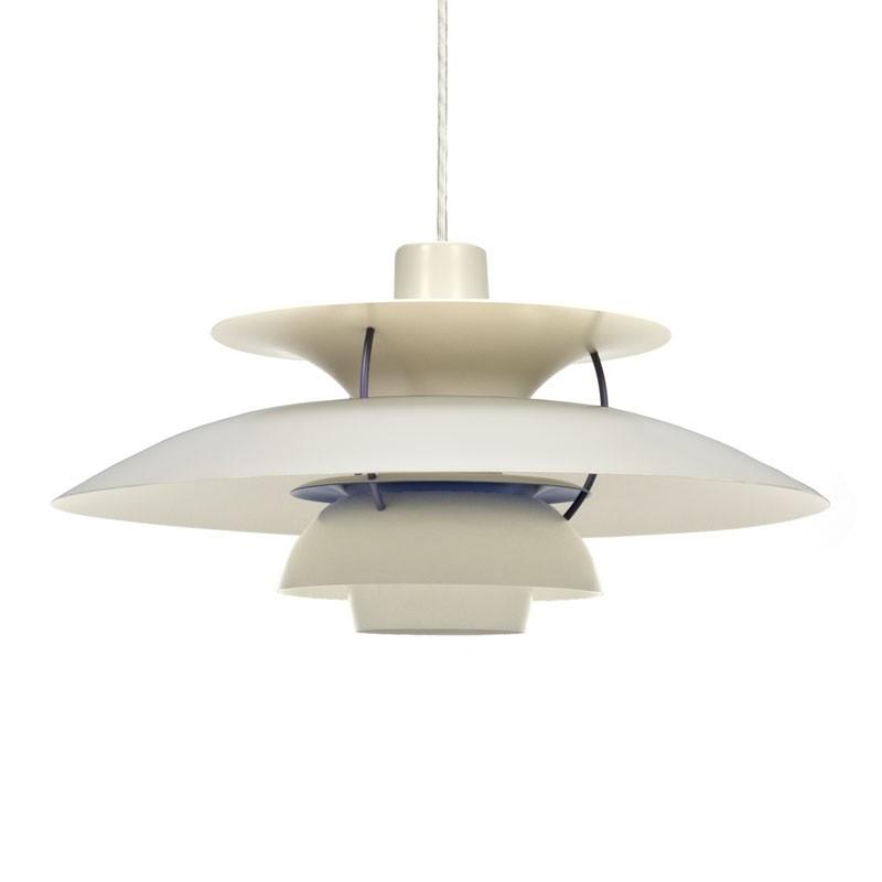 Vintage Louis Poulsen PH 5 witte design hanglamp