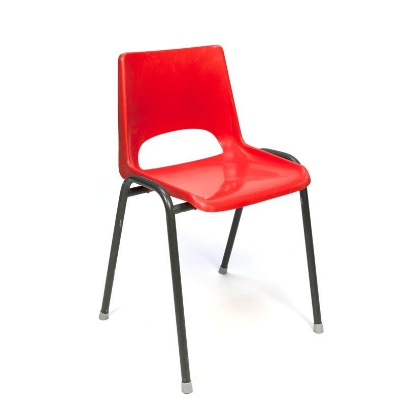 Vintage seventies plastic school chair