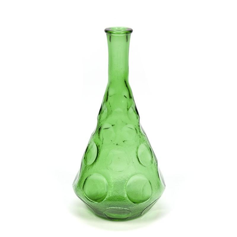 Vintage Italiaanse glazen karaf groen