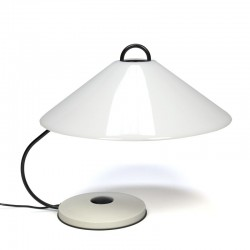 Vintage design tafellamp jaren zeventig met grote kap