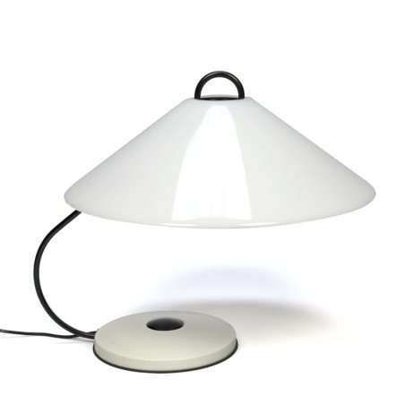 Vintage seventies design table lamp with large shade
