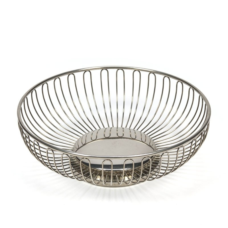 Vintage silver platted fruit basket