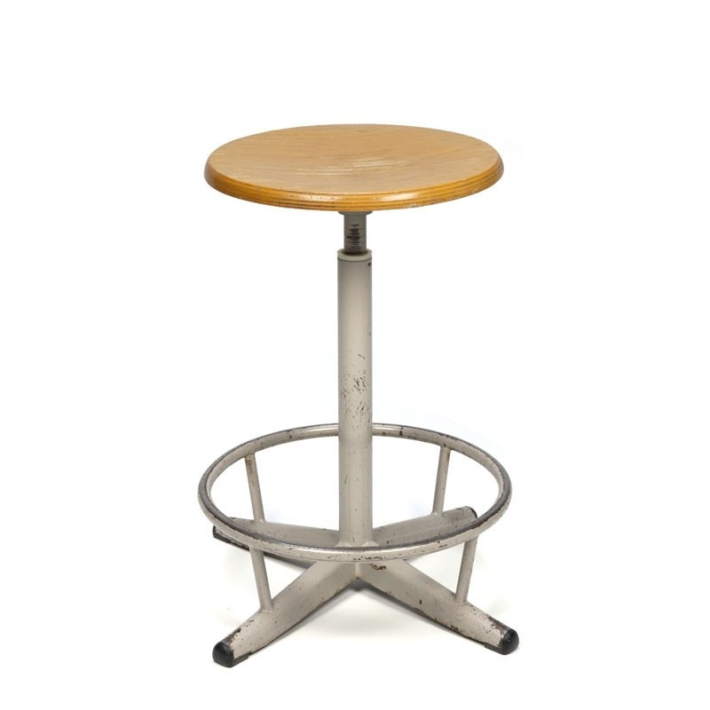 Swivel stool vintage industrial design