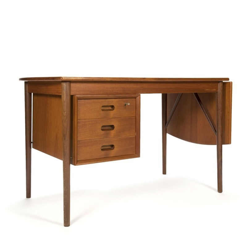 Vintage extendable Danish teak desk