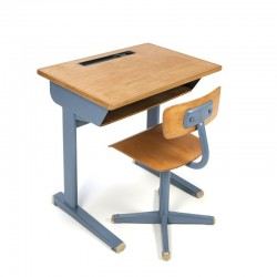 Vintage school desk with chair for children