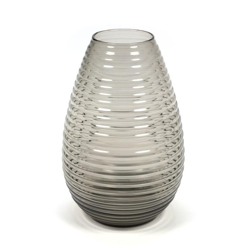 Vintage druppelvormige glazen vaas ontwerp A.D. Copier