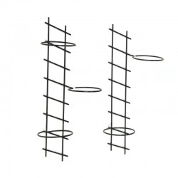 Set of two vintage wall holders for flowerpots