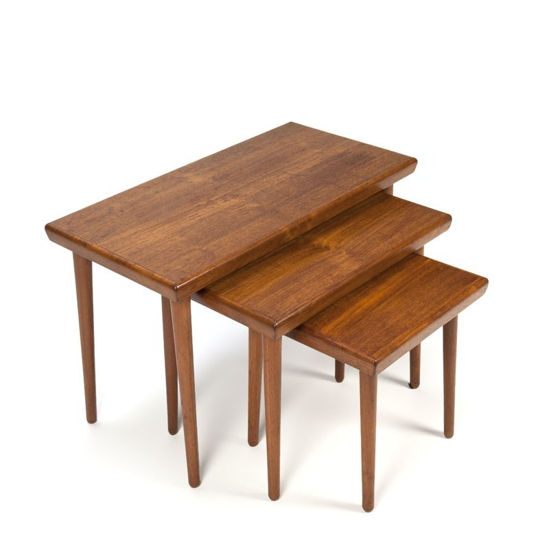 Vintage teak nesting tables set of 3