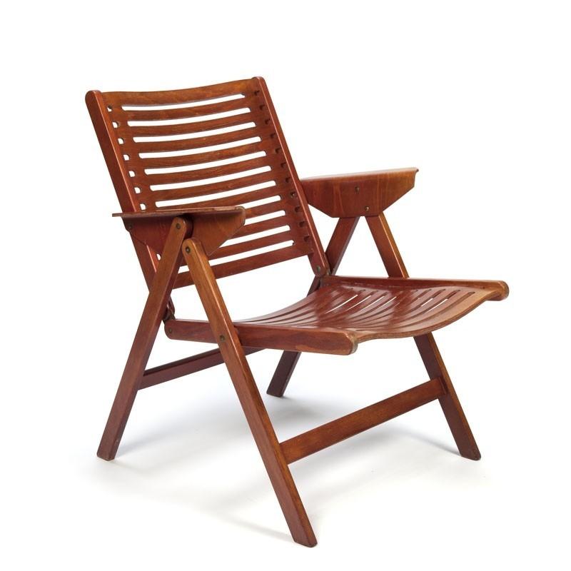 Vintage folding chair Rex designed by Niko Kralj