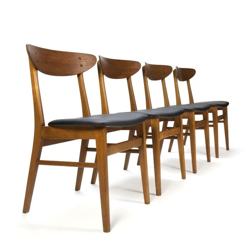 Set vintage Farstrup stoelen model 210