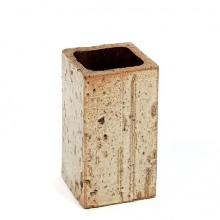 Rectangular small vintage ceramic vase