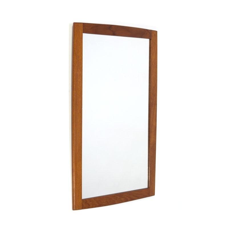 Danish teak vintage mirror
