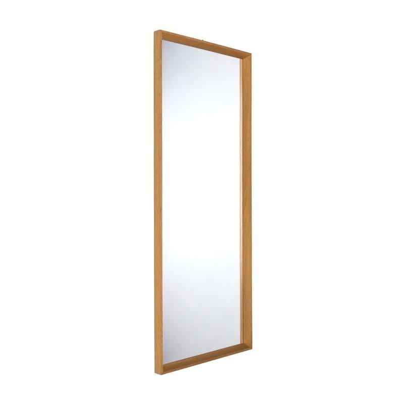 Oak large Vintage Danish mirror