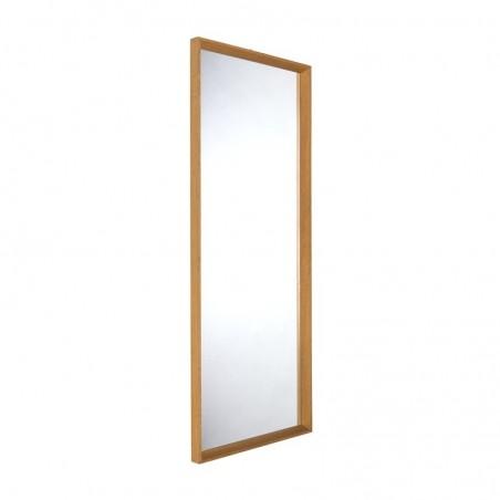 Eiken grote vintage Deense spiegel