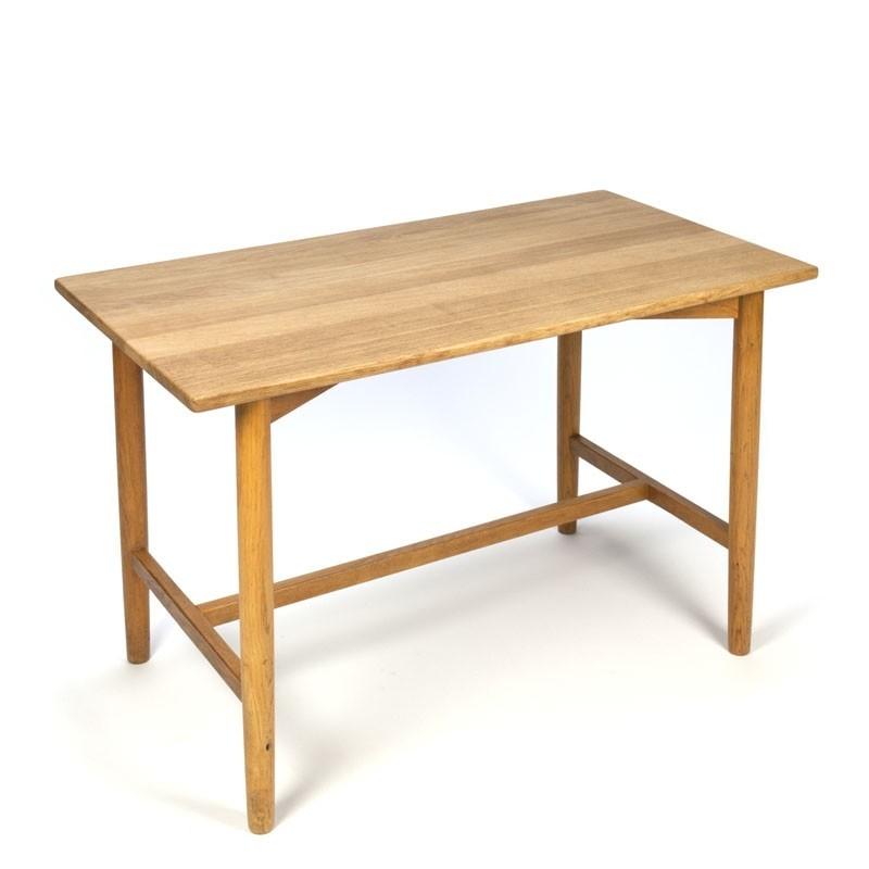 Danish vintage oak small coffee table